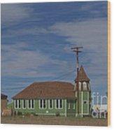 Shaniko School - 1901 To 1946 Wood Print