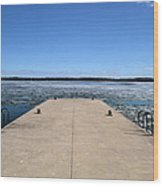 Shanty Bay Pier 2  Wood Print