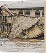 Shanty Town Disaster Wood Print