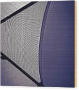 Shape No.3 Purple Version Wood Print