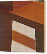 Shapes And Shadows Wood Print