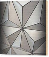 Shapes In Steel Wood Print