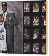 Shaquille O'neal Wood Print by Joe Hamilton