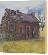 Sharecroppers Shack Wood Print
