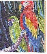 We Are Sharing A Perch  Wood Print