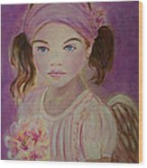 Sharissa Little Angel Of New Beginnings Wood Print