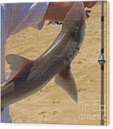 Baby Shark Wood Print
