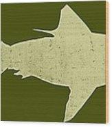 Shark Wood Print by Michelle Calkins