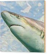 Shark Profile Wood Print