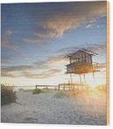 Shark Tower 2 Wood Print by Steve Caldwell