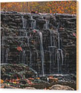 Sharon Woods Waterfall Wood Print