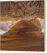 Sharp Curve In A Canyon Wood Print