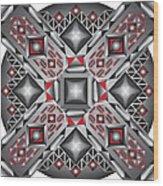 Sharp Optical Art J Wood Print