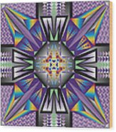 Sharp Tile Art Wood Print