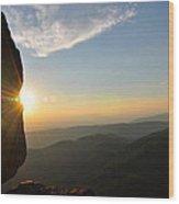 Sharp Top Sunburst Wood Print
