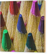 Sharpened Color Wood Print
