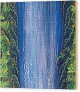 Shasta Falls Wood Print
