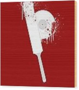 Shaun Of The Dead Custom Poster Wood Print by Jeff Bell