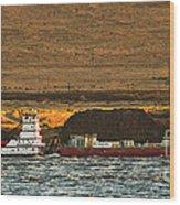 Shaver Tug On The Columbia River Wood Print