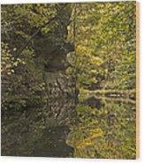 Shawnee Fall Reflection Wood Print