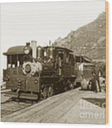 Shay No. 498 At The Summit Of Mt. Tamalpais Marin Co California Circa 1902 Wood Print