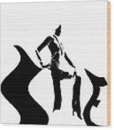 She Black Wood Print