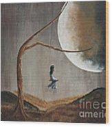 She Feels Memories By Shawna Erback Wood Print by Shawna Erback