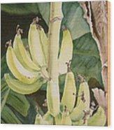 She Has Gone Bananas Wood Print