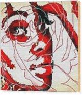 She Pop Art Rose Wood Print