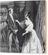 She Then Told Him What Mr Darcy Had Voluntarily Done For Lydia Wood Print