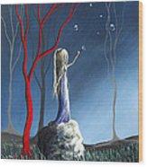 She Whispers Her Dreams By Shawna Erback Wood Print