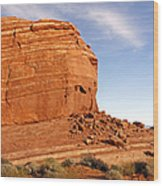 Shear Lined Cliff Wood Print