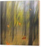 Shed Leaves Wood Print