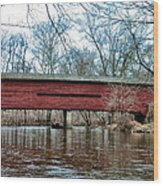 Sheeder - Hall - Covered Bridge Chester County Pa Wood Print