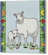 Sheep Artist Sheep Art II Wood Print