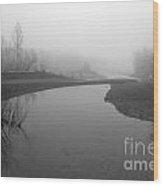 Sheep River On A Foggy Day 2 Wood Print