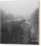 Sheep River On A Foggy Day 5 Wood Print