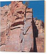 Sheer Canyon Walls Wood Print