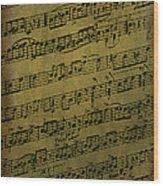 Sheet Music Wood Print