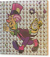 Sheet Of Mad Hatter Blotter Acid Wood Print by Science Source