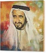 Sheikh Rashid Bin Saeed Al Maktoum Wood Print by Corporate Art Task Force