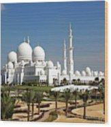 Sheikh Zayed Bin Sultan Al Nahyan Grand Wood Print