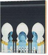 Sheikh Zayed Grand Mosque - Abu Dhabi - Uae Wood Print