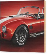 Shelby Cobra 427 - Bloodshot Wood Print by Marc Orphanos