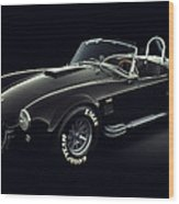 Shelby Cobra 427 - Ghost Wood Print by Marc Orphanos
