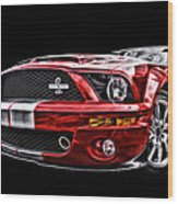 Shelby On Fire Wood Print