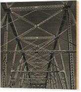 Shelby Street Bridge Details Nashville Wood Print