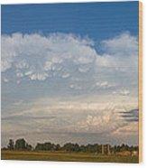 Shelf Cloud Mamacumulus Leading Edge  Wood Print