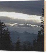 Shelf Of Light Cloud Wood Print