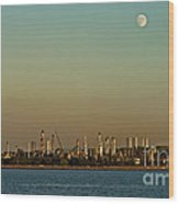 Shell Refinery Wood Print